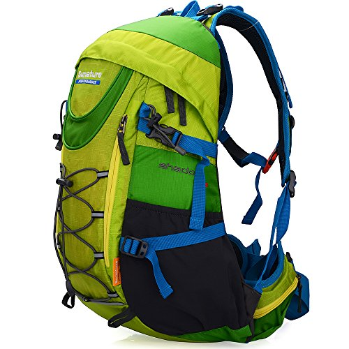 Altosy Hiking Daypack Outdoor Waterproof Travel Backpacks Red/blue (Green)