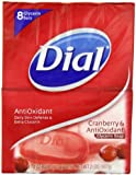 Dial Cranberry (Power Berries) and Antioxidant Glycerin Soap Bar, 8 Count (Pack of 2) (Packaging may vary)