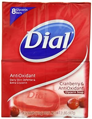Dial Glycerin Soap, Cranberries and Antioxidant, 8 Count
