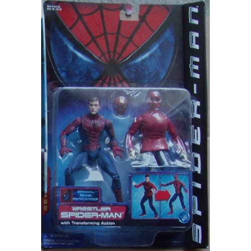 Amazon.com: Spiderman Wrestler with Transofrming Action