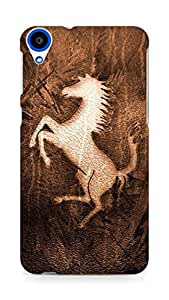 Amez designer printed 3d premium high quality back case cover for HTC Desire 820 (Character horse mustang)