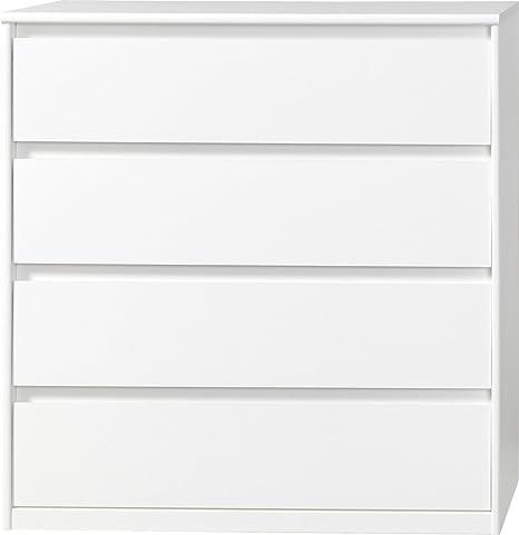 CS Schmalmöbel 75.012.012/22 Grifflose Kommode Soft Plus Smart Typ 22, 45 x 106 x 110 cm, weiß