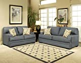 3pc Traditional Modern Fabric Sleeper Sofa Set, CO-AMB-S3
