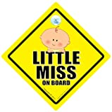 Little Miss On Board Car Sign Little Miss On Board Baby on Board Sign Baby On Board Baby Car Sign Baby Sign Decal Bumper Sticker Baby Safety Signs Baby Car Sign Maternity Pregnancy Grandchild Car Sign