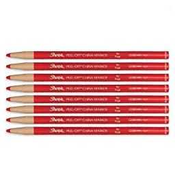 Sharpie Peel-Off China Marker 169T Red, 8 Markers Per Order (02059)