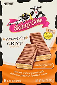 Nestle Skinny Cow Heavenly Crisp Chocolate Peanut Butter Candy Bar (1 Box/6 Bars)