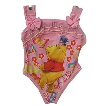 Amazon com disney little girls pink winnie the pooh print one pc