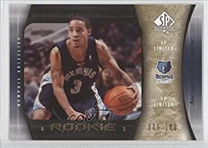 Anthony Roberson #39 100 Memphis Grizzlies (Basketball Card) 2005-06 SP Authentic SP... by SP+Authentic