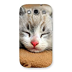 Ajay Enterprise Elite Sleeping Cat Multicolor Back Case Cover for Galaxy S3 Neo