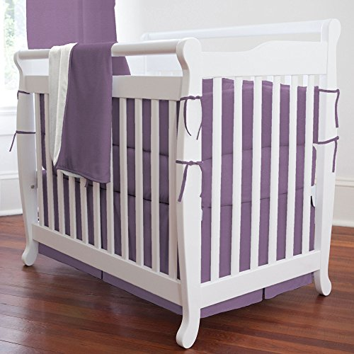 Carousel Designs Solid Aubergine Purple Mini Crib Blanket