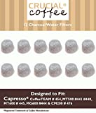 12 Capresso 4440.90 Charcoal Coffee Filters, Fits TEAM # 454, Designed & Engineered by Crucial Coffee