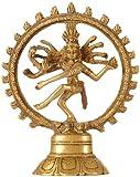 Exotic India Small Nataraja - Brass Sculpture