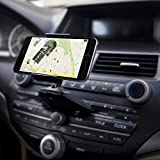 Ipow Universal One Touch Installation CD Slot Smartphone Car Mount Holder Cradle for iPhone 6 6(+) 6S 6S plus 5S 5C 4S,iPod Touch,Samsung Galaxy S5 S4 S3 Note 2 Note 3,Nexus 5,HTC,LG,BlackBerry,Black