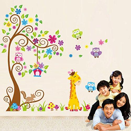 rainbow-fox-sticker-da-muro-e-lettere-in-legno-albero-fiore-colorato-simpatici-gufi-leone-cervo-ades