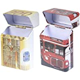 Cicero Pack-it Cigarette Pack Holders Combo Pack Of Euro 200 & London-Bus