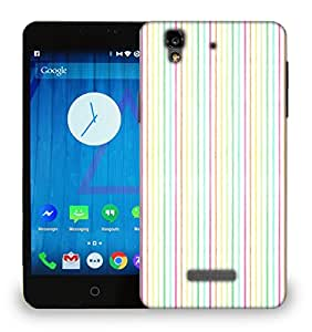 Snoogg Colorful Strips Printed Protective Phone Back Case Cover For Micromax Yu Yureka