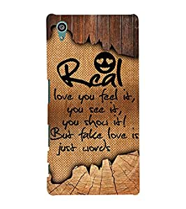 Real Love You Feel it 3D Hard Polycarbonate Designer Back Case Cover for Sony Xperia Z5 :: Sony Xperia Z5 Dual (5.2 Inches)