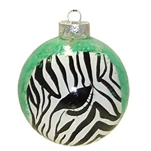ArtisanStreet's Zebra Ornament. Hand Painted, Signed by Artisan.