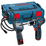 Bosch GOSGSRLBOXX GSR 10.8-2-LI Plus GSA 10.8 V-LI Kit with L-Boxx