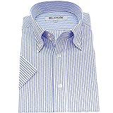 (ブルーム) BLOOM オリジナル 半袖 ワイシャツ 形態安定 爽やかストライプ 9 S
