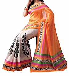RGR Enterprice Woman's Bhagalpuri Designer Saree (ishin print_Multi-Coloured_Free Size)