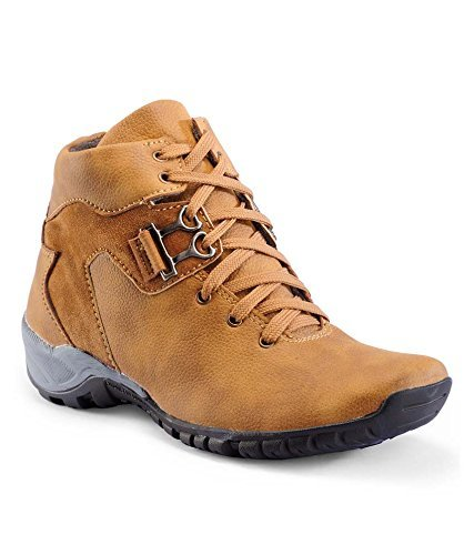 TR TAN SYNTHETIC LEATHER BOOT SHOES FOR MEN'S