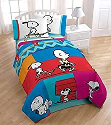 Peanuts Just Be 42 x 63 Curtain Panel Pair Twin/Full Comf
