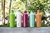 Corkcicle Canteen - Water Bottle and Thermos - Keeps Beverages Cold for Over 25, Hot for Over 12 Hours - Triple Insulated with Shatterproof Stainless Steel Construction - Turquoise - 16 oz.