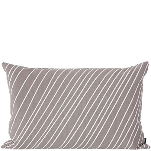 Ferm Living Kissen Striped 60cm x 40cm, grau
