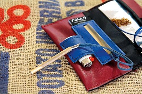 Portatabacco in eco pelle made in Italy, porta sigarette, astuccio in pelle, pochette lighter pocket blague à tabac tabaktasche