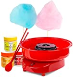 Andrew James Candy Floss Maker Machine + Three Candy Floss Flavoured Sugars - Lemon, Orange & Cherry