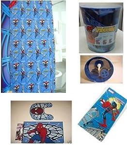 Spiderman deluxe bathroom set bathroom for Spiderman bathroom ideas