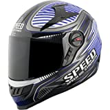 Speed And Strength Speed Strong Men's SS1300 Sports Bike Motorcycle Helmet - Blue / Large