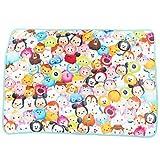 【Disney】 ツムツム フランネル 毛布 ブランケット & レッスンバッグ セット (ひざ掛けA★70×100cm )
