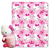 Sanrio Hello Kitty Throw (40x50) and Pillow Set By Northwest Hello Kitty Pillow