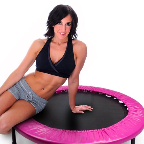 Crown Sporting Goods Mini Rebounder Trampoline, Pink, 38-Inch