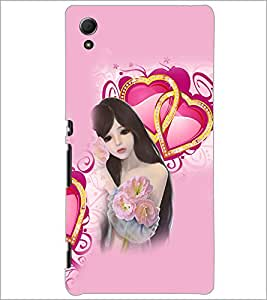 PrintDhaba Love Girl D-4131 Back Case Cover for SONY XPERIA Z4 (Multi-Coloured)