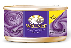 Wellness Canned Cat Food, Turkey and Salmon Recipe, 24-Pack of 3-Ounce Cans