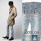 Black by VANQUISH【ブラックバイヴァンキッシュ】 ライトホワールスキニーデニム[bvb025] メンズ 春夏 ジーンズ デニム マーダーライセンス 34 淡色