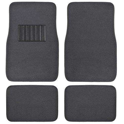 Front & Rear Carpet Car Truck Suv Floor Mats - Dark Grey front-293361