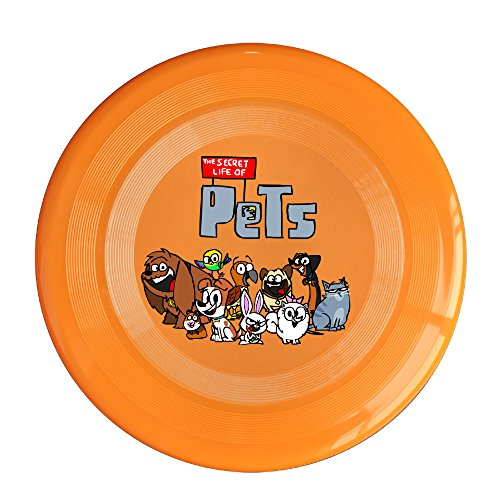 Discovery Wild The Secret Life Of Pets Family Plastic Flying Sport Discs - Frisbee Like Toy For Outdoor Game Play - Sports For All Ages - Party Fun - Orange
