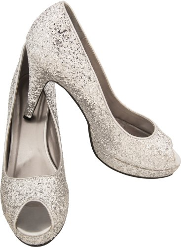 Secret Wishes Glittering Peep Toed Pumps Shoes