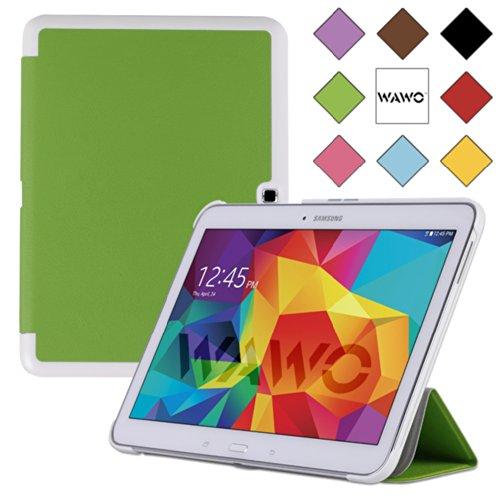 Wawo Samsung Galaxy Tab 4 10.1 Inch Tablet Smart Cover Creative Fold Case - Green