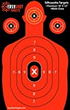 50% OFF SALE! Silhouette Shooting Targets (Includes 150 FREE Target Repair Stickers) High-Visibility Fluorescent Orange, Paper Targets for Firearms Marksmanship, Easy to See Shots, Multi-Zone, 100% MONEY-BACK GUARANTEE.