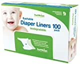 Bumkins Flushable Diaper Liner, Neutral, 100 Pack