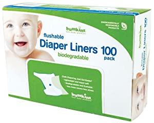 Bumkins Flushable Diaper Liner, 1 Pack, Neutral