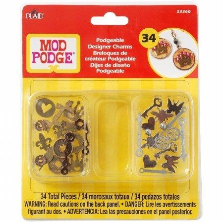 mod-podge-podgeable-designer-charms-34-pkg-by-plaidcraft