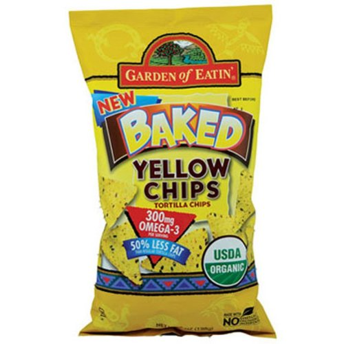 Garden of Eatin' Tortilla Chip-Baked/Yellow Corn (100% Organic), 7-Ounce (Pack of 12)