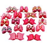 PET SHOW Mixed Styles Pet Cat Puppy Topknot Small Dog Hair Bows With Rubber Bands Grooming Accessories Rosepink...