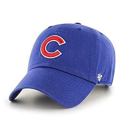 Chicago Cubs Washed Adjustable Logo Hat Royal Adjustable - Royal